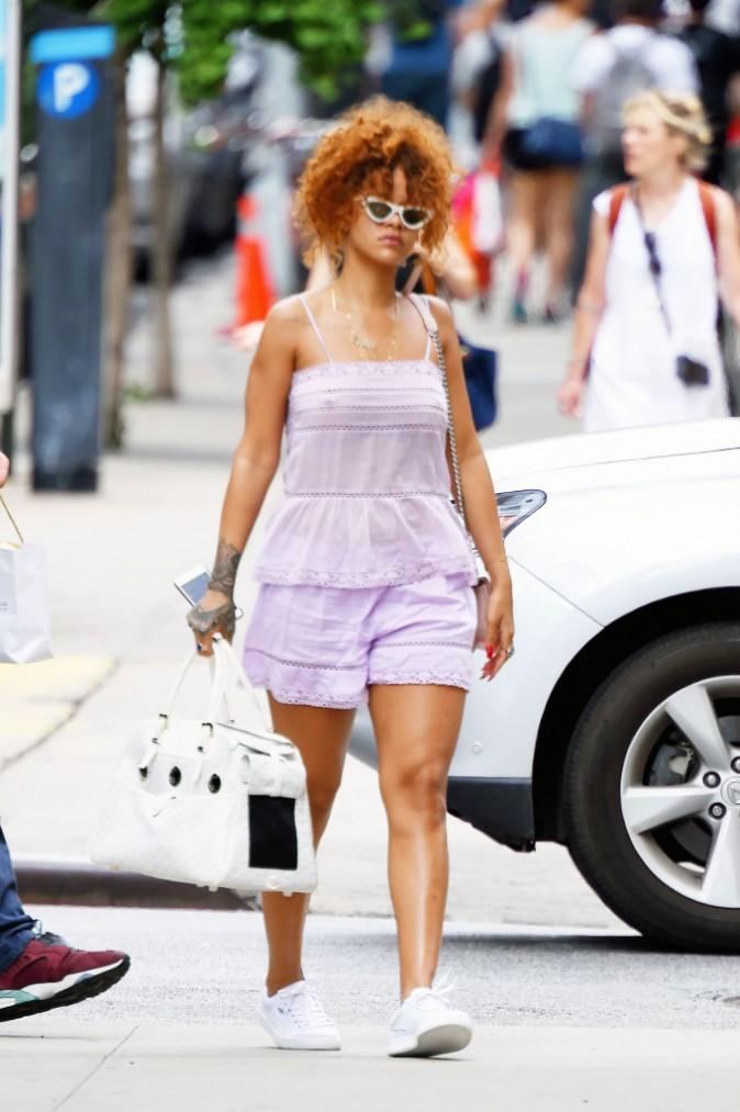 Rihanna à New York, le 20 juillet 2015