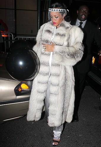Rihanna à New-York le 1er janvier 2014