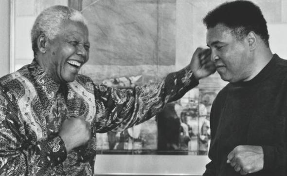 Nelson Mandela et Mohamed Ali
