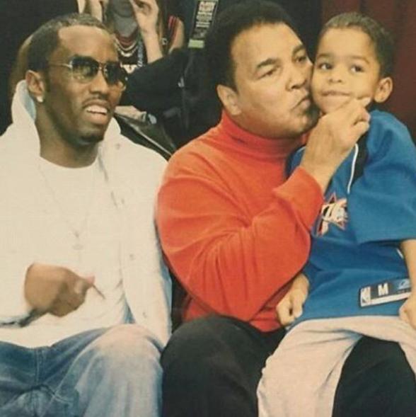 P. Diddy en famille avec Mohamed Ali