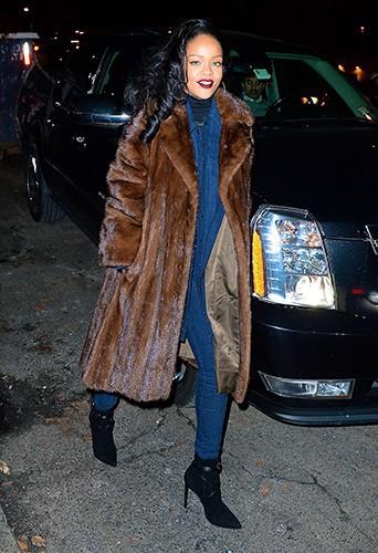 Rihanna à New-York le 11 décembre 2013
