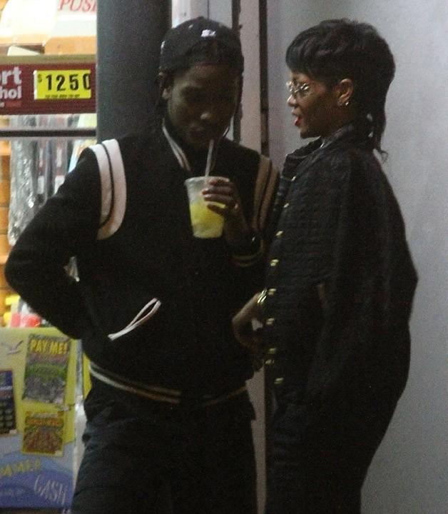 Rihanna sur le tournage du nouveau clip d'A$AP Rocky à New-York le 14 août 2013