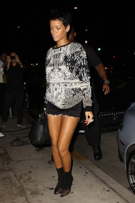 Rihanna à Los Angeles, le 11 septembre 2012.