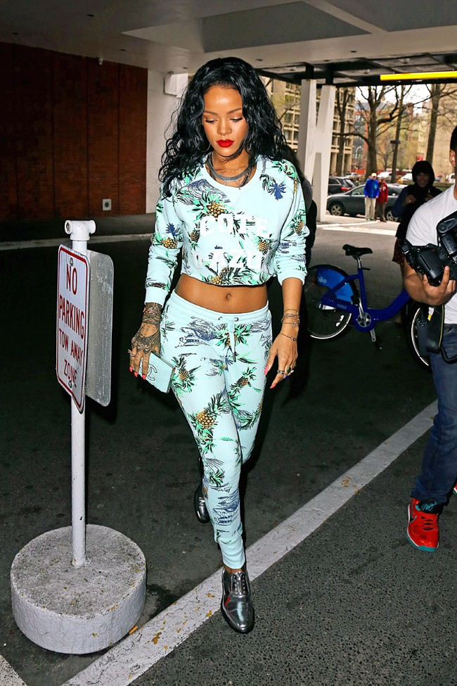 Rihanna à New-York le 26 avril 2014
