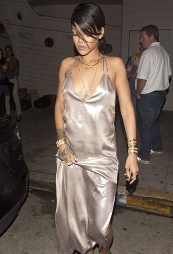 Rihanna au restaurant Giorgio Baldi à Santa Monica