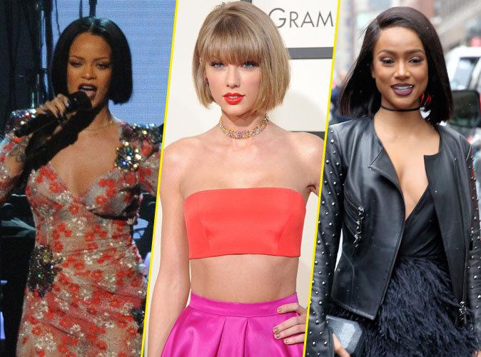 """Rihanna, Taylor Swift, Karrueche : nouvelle tendance mode """"La Coupe au Carré"""""""