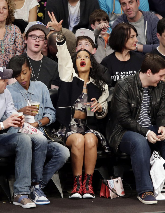 Rihanna au Barclays Center, le 27 avril 2014.