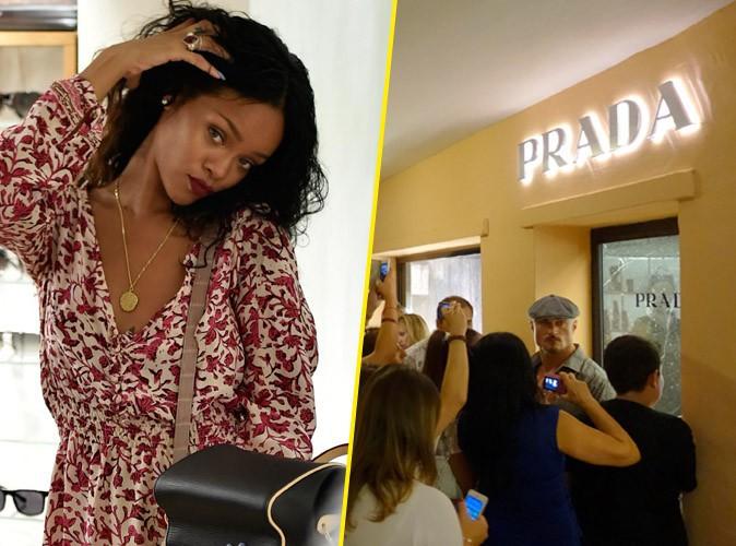 Rihanna : toujours en vacances en Sardaigne, elle créé l'émeute chez Prada !