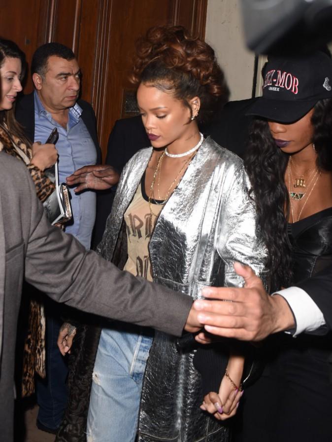 Rihanna à Paris le 1er octobre 2015