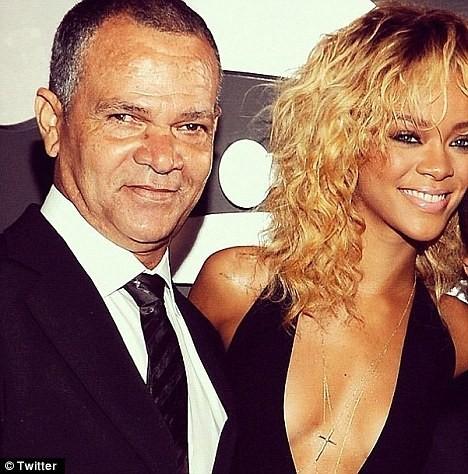 Rihanna et son papa Ronald Fenty