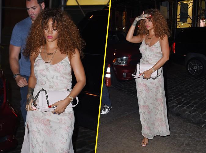 Rihanna : ultra f�minine, elle sort le grand jeu !