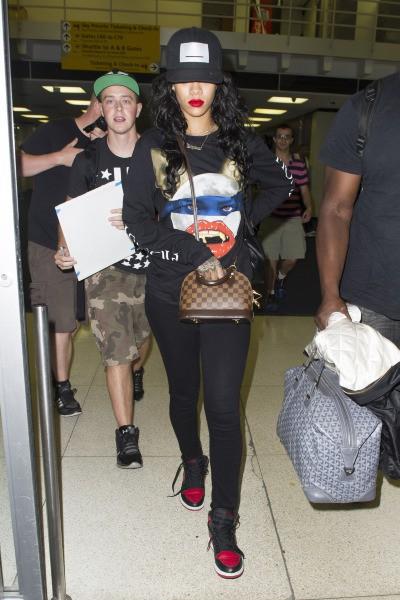 Rihanna à l'aéroport de New York, le 29 juillet 2014