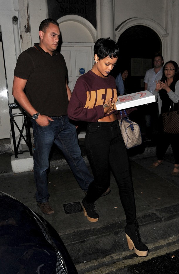 Rihanna à Londres le 8 septembre 2012