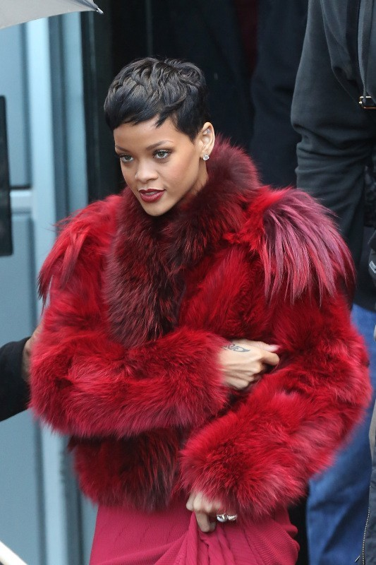 Rihanna, Paris, 10 décembre 2012.