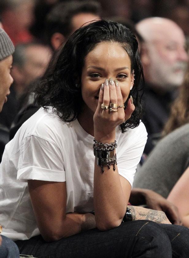 Rihanna au Barclays Center de New-York le 10 janvier 2014