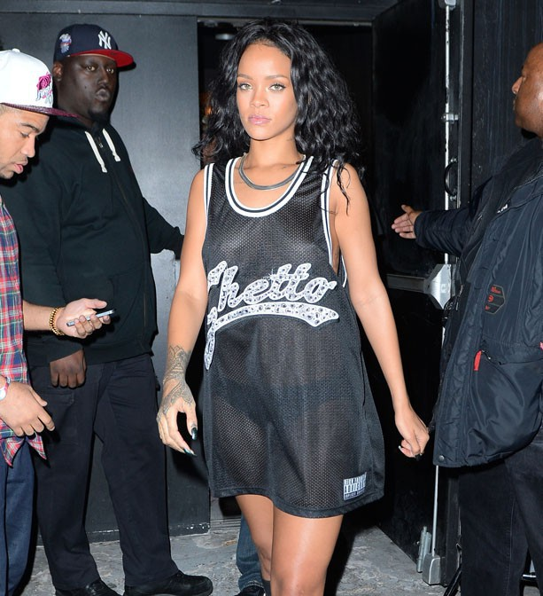 Rihanna à New-York le 3 mai 2014