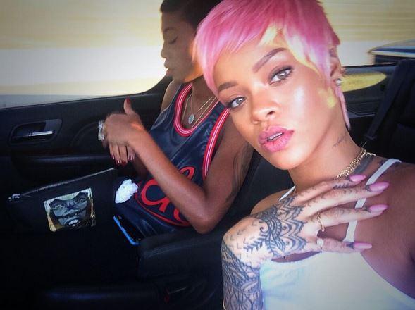 Rihanna en route pour le Staples Center, le 15 mai 2014.