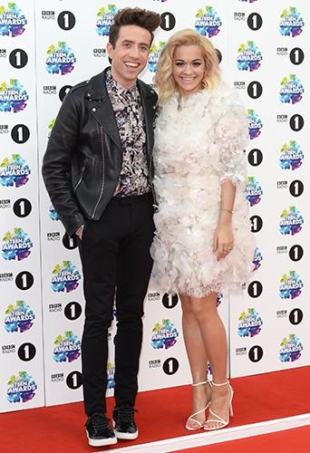 Nick Grimshaw et Rita Ora à Londres le 3 novembre 2013
