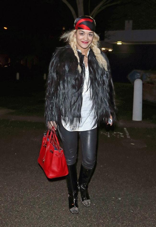 Rita Ora à Londres le 2 janvier 2013