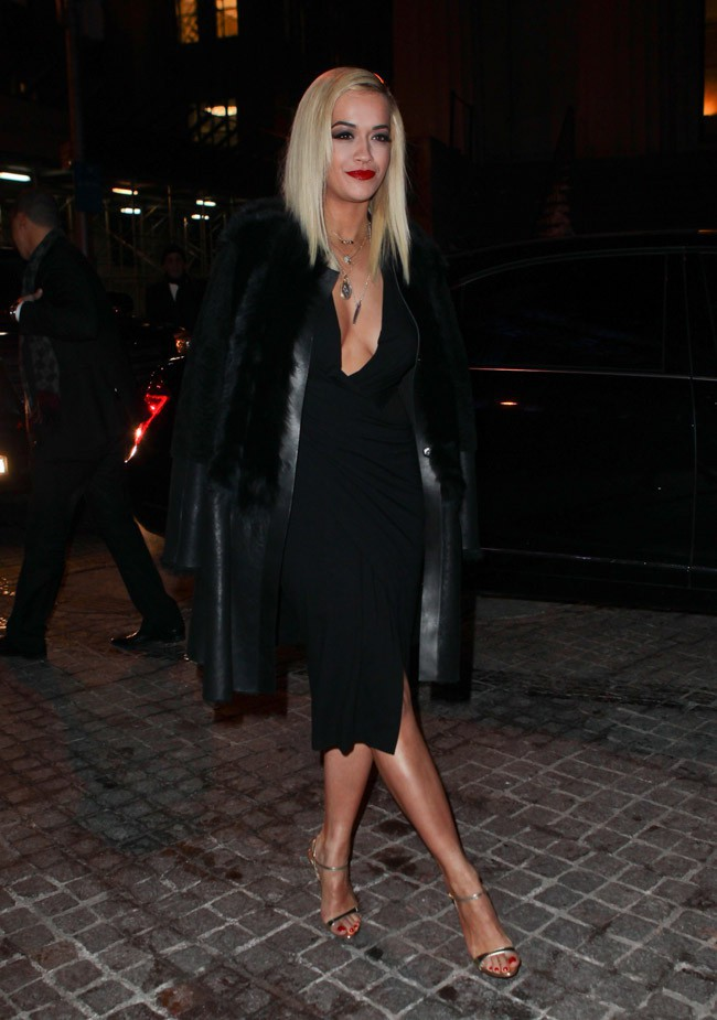 Rita Ora à New-York le 10 février 2014