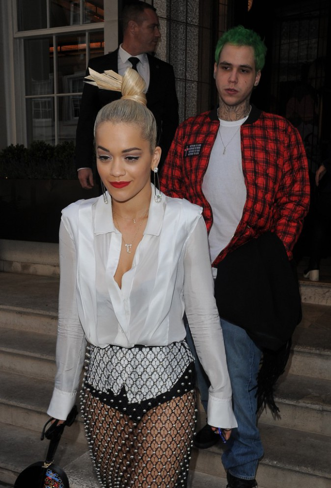 Rita Ora et Ricky Hillfiger à Londres le 8 octobre 2014