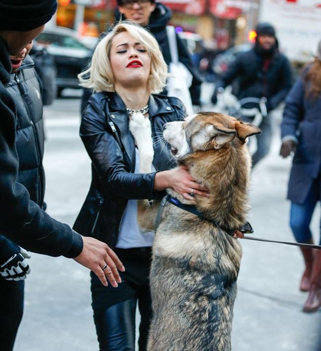 Rita Ora à New-York le 16 décembre 2013