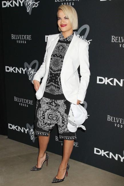 Rita Ora lors de la B-Day Party de la marque DKNY à New York, le 9 septembre 2013.