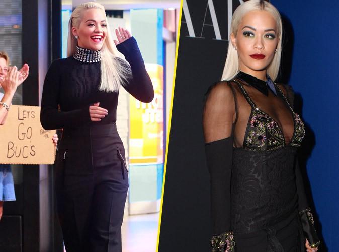 Rita Ora : entre promotion et soirée fashion, sa journée marathon déclinée en noir !