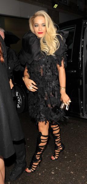 Rita Ora à Londres, le 19 février 2014.
