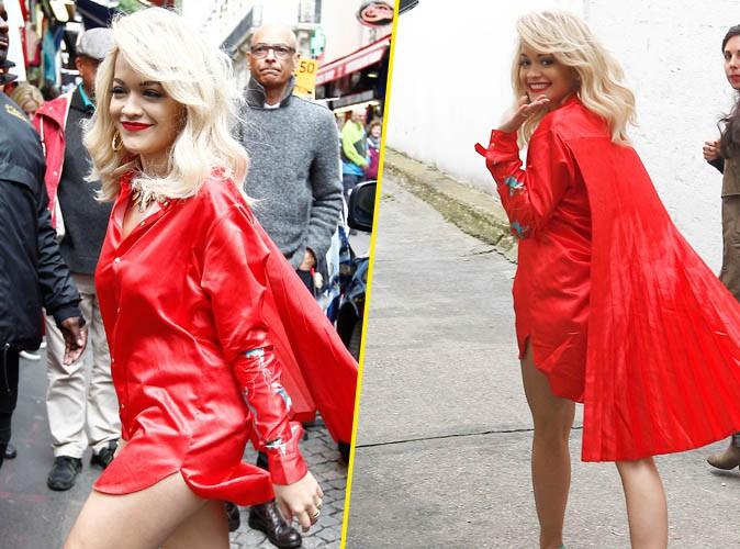 Rita Ora : gambettes à l'air pour répéter avant le grand show de ce soir, le NRJ Music Tour !