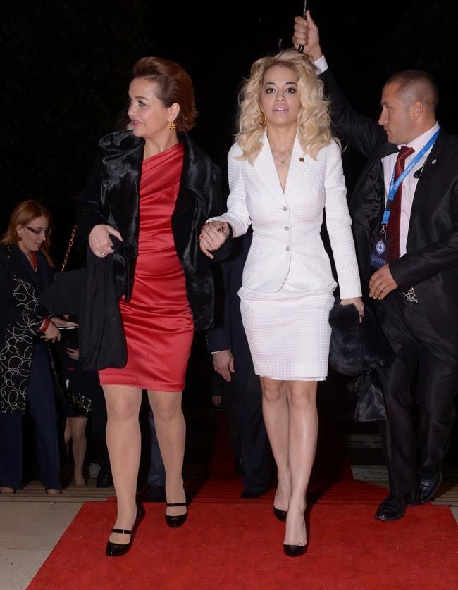 Rita Ora à Tirana, en Albanie, le 28 novembre 2012