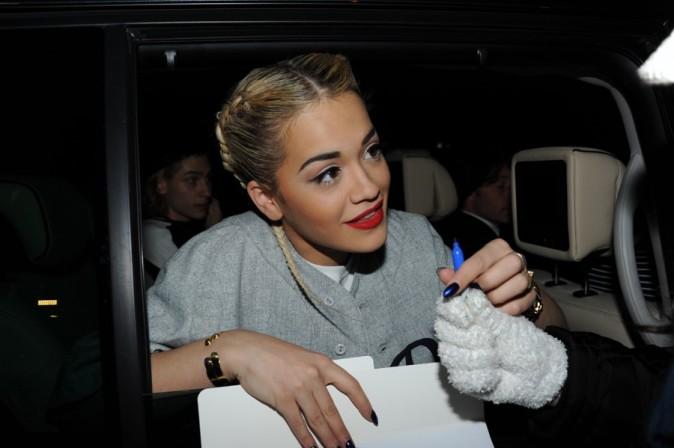Rita Ora au défilé Etam à Paris le 26 février 2013