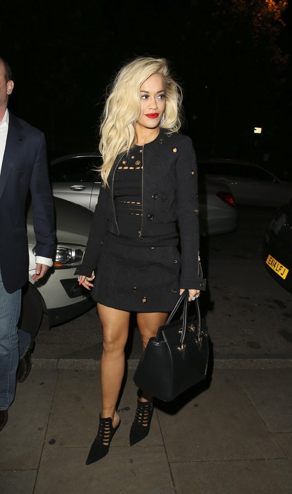 Rita Ora à Manchester le 29 septembre 2014