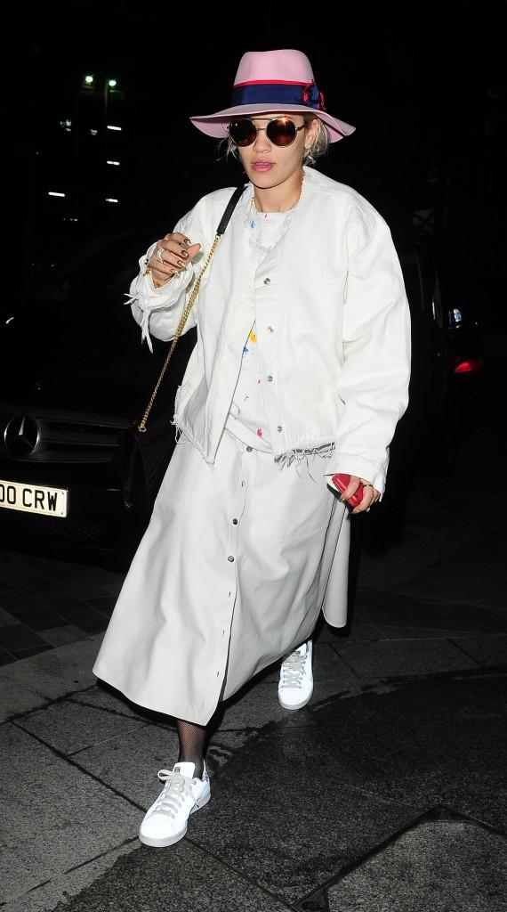 Rita Ora à Londres le 4 janvier 2015