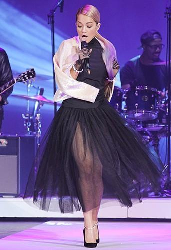 Rita Ora à Berlin le 11 juillet 2014