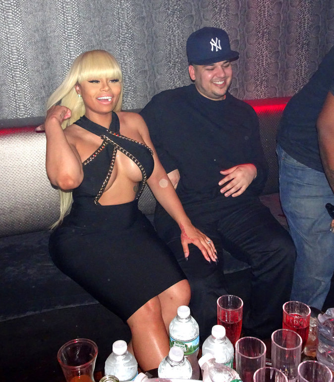 Rob Kardashian et Blac Chyna dans un Strip-clup de New York le 14/04/2016