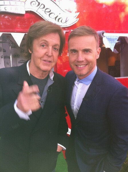 Paul McCartney et Gary Barlow