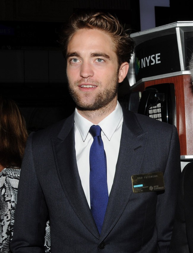 Robert Pattinson le 14 août 2012 à la Bourse de New York