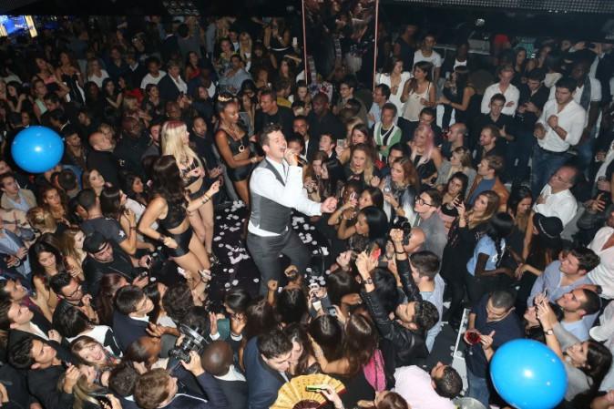 Robin Thicke lors de son after-party au VIP Room Theater à Paris, le 18 octobre 2013.