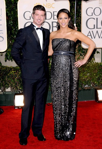 Robin Thicke et Paula Patton le 17 janvier 2010 !