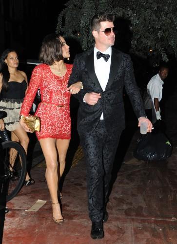 Robin Thicke et Paula Patton le 1er janvier 2014 !