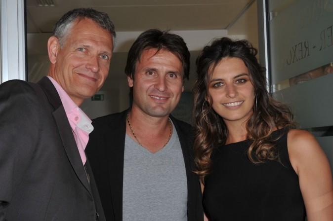 Petite pose avec l'ancien tennisman Fabrice Santoro !