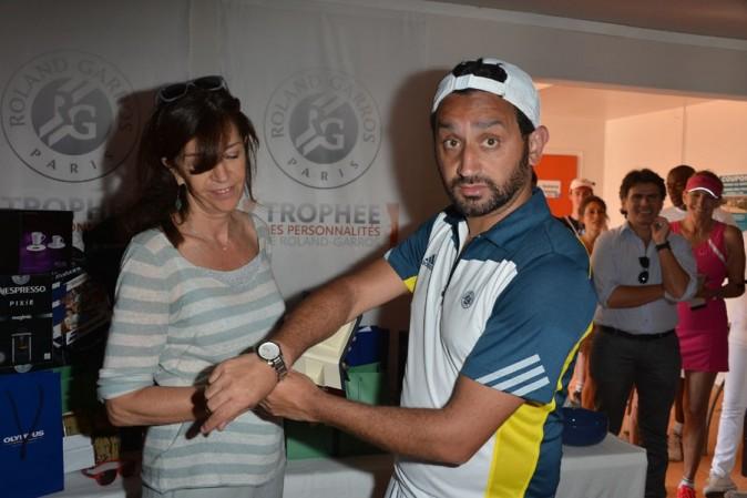 Cyril Hanouna à Roland-Garros pour le tournoi des célébrités le 7 juin 2013