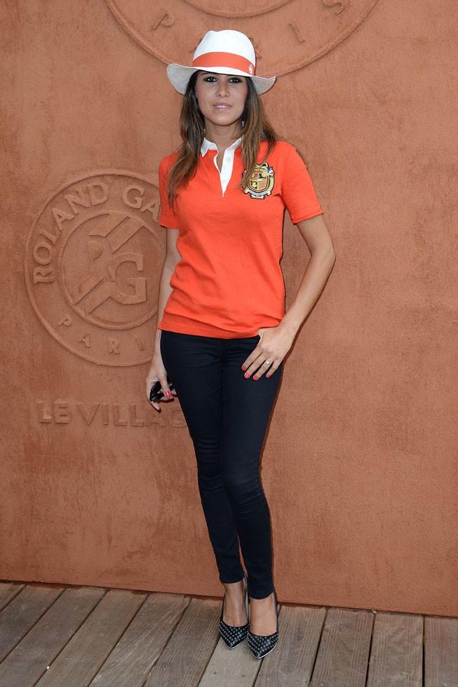 Karine Ferri à Roland Garros le 27 mai 2014