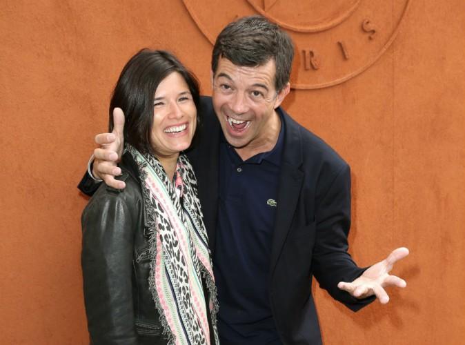 Photos : Roland Garros 2015 : joli numéro de complicité entre Stéphane Plaza et Flavie Péan !