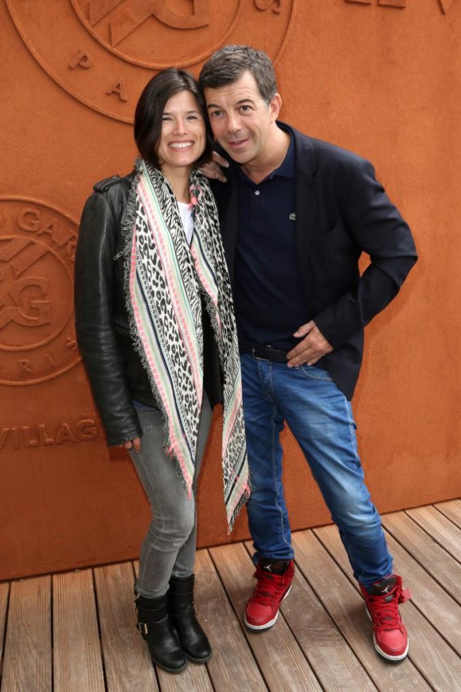 Stéphane Plaza et Flavie Péan à Roland Garros le 26 mai 2015