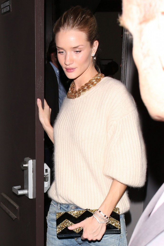 Rosie Huntington-Whiteley à West Hollywood, le 4 mars 2014.