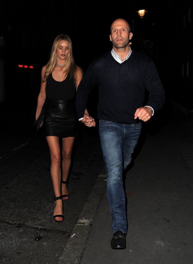 Rosie Huntington-Whiteley et Jason Statham à Londres le 16 août 2013