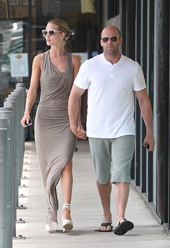 Rosie Huntington-Whiteley et Jason Statham à Los Angeles le 6 juillet 2013
