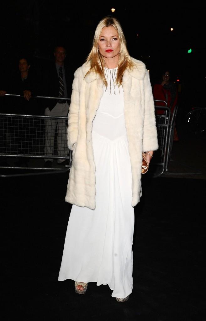 Kate Moss lors de la soirée Moët & Chandon Etoile Award Ceremony à Londres, le 19 septembre 2011.